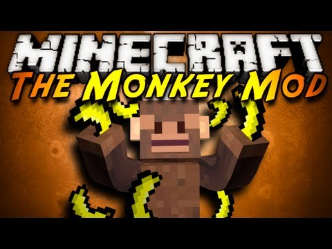Minecraft Mod Showcase : THE MONKEY MOD!, Monkehs! Yes! monkehs! that attack and destroy any mob in your way! However they do have a price of a couple bananas... Download the mod here! (tell em sky s...