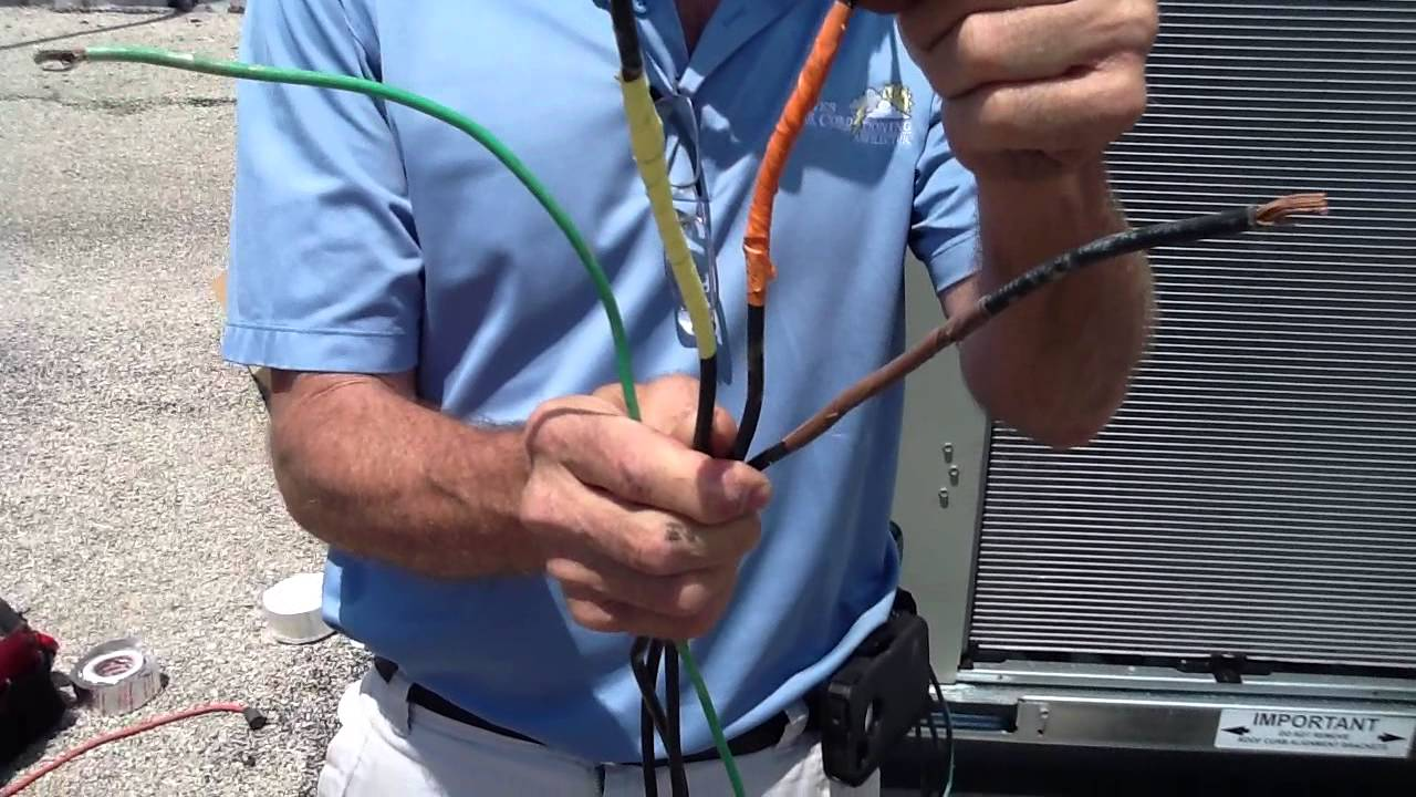 How to Hookup 460     3    Phase Power  Air Conditioning   YouTube