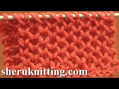 Knitting Stitch Patterns Tutorial 4 Honeycomb Knitting Stitch How to