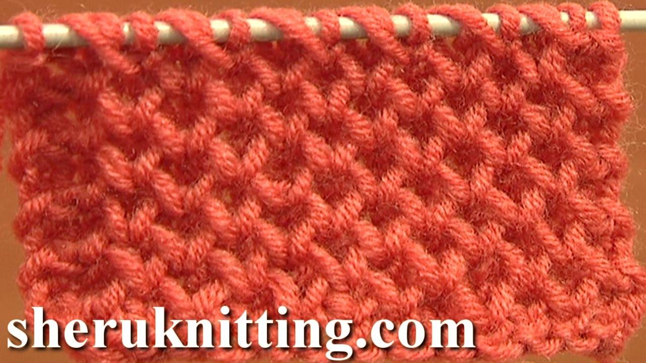 Knitting Stitches Honeycomb : Knitting Stitch Patterns Tutorial 4 Honeycomb Knitting Stitch How to - YouTube