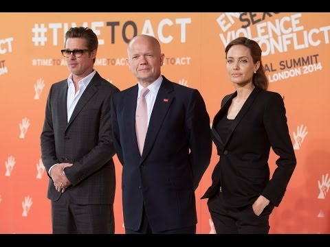 Brad Pitt and Angelina Jolie - at Global Summit To End Sexual Violence