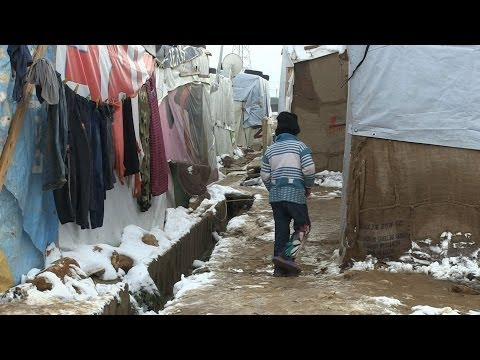 Syrian refugee children in Lebanon brace for coming winter