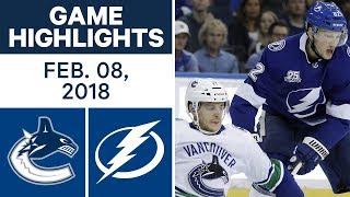 NHL Game Highlights | Canucks vs. Lightning - Feb. 8, 2018