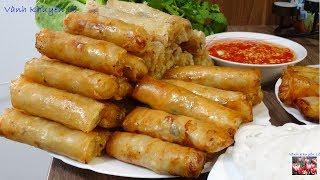 Bí quyết làm CHẢ GIÒ Bánh Tráng Việt Nam - VIETNAMESE SPRING ROLLS giòn rụm lâu by Vanh Khuyen