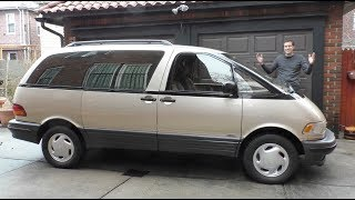 The Toyota Previa Is the Weirdest Minivan Ever