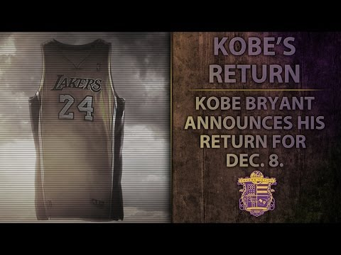 Lakers News: Kobe Bryant Announces His Return