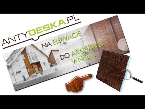 ANTYDESKA - Imitacja drewna Deski elewacyjne, panele ścienne