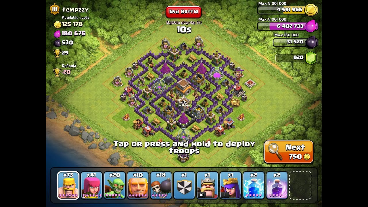 Clash of clans special th8 hybrid base mit matthias 1 hd