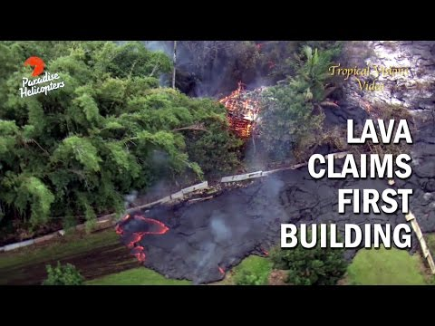 Lava Burns Down First Residential Structure in Pahoa