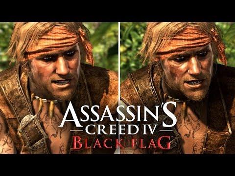 Assassin's Creed 4: Graphics Comparison (PS4, PS3, Xbox 360, Wii U)