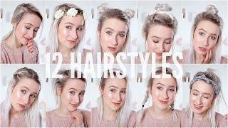 12 EASY HEATLESS HAIRSTYLES - Short / Medium Hair | Sophie Louise