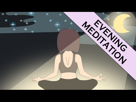 Guided Evening Meditation to Let Go of Stress and Improve Sleep (with Meditation Music)