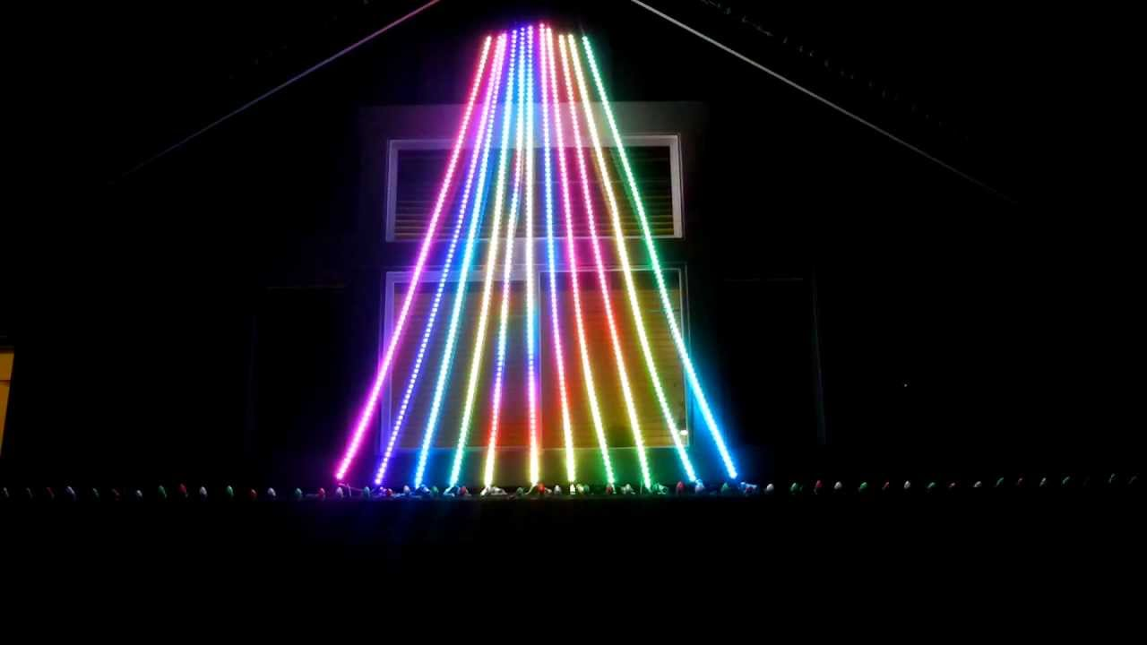 Correct Way To String Christmas Lights On Tree : Christmas Mega Tree LED Flex String PixelNet - YouTube