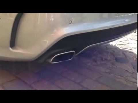 Mercedes CLA 250 Exhaust sound - YouTube