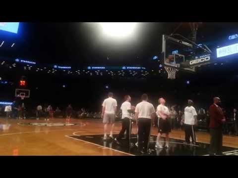 Courtside @ Brooklyn Nets pre-game shootaround:  Mirza Teletovic (2 of 2)
