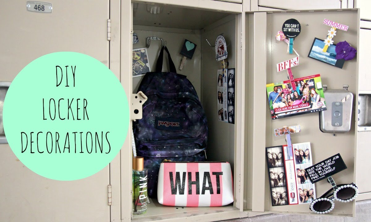 DIY Locker Decorations For Back To School - YouTube