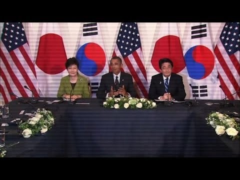 Obama hosts landmark Japan, S.Korea summit