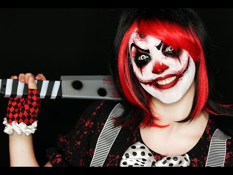 Killer Clown Makeup Tutorial | Easy Scary Clown | 31 Days of Halloween