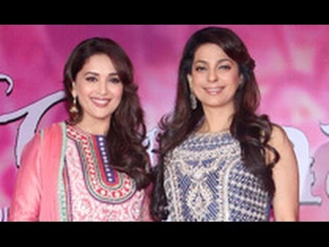 Madhuri Dixit, Juhi Chawla at 'Gulaab Gang' Press Meet | Anubhav Sinha, Soumik Sen