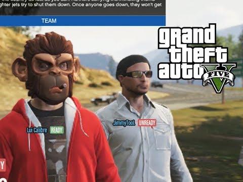 GTA 5 Online Versus: Top Fun - Jets vs Motorcycles Part 2 ... Lui Calibre Gta 5