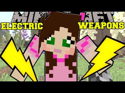 Minecraft: ELECTRIC WEAPONS! (ELECTRIC METEROR BOMB, TOTAL DESTRUCTION BOW, & MORE!!) Custom Command