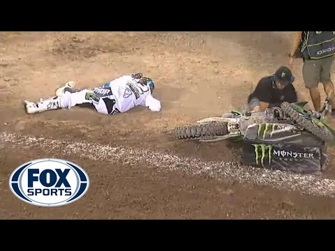 Ryan Villopoto Big Crash @ 2013 Monster Energy Cup Race 2