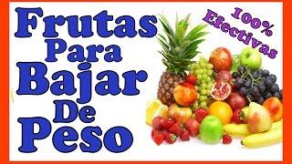 Frutas para bajar de peso rápido
