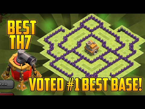 CoC  - TH7 Trophy/War Base Best Town Hall 7 Defense With Air Sweeper (Without Barbarian King)