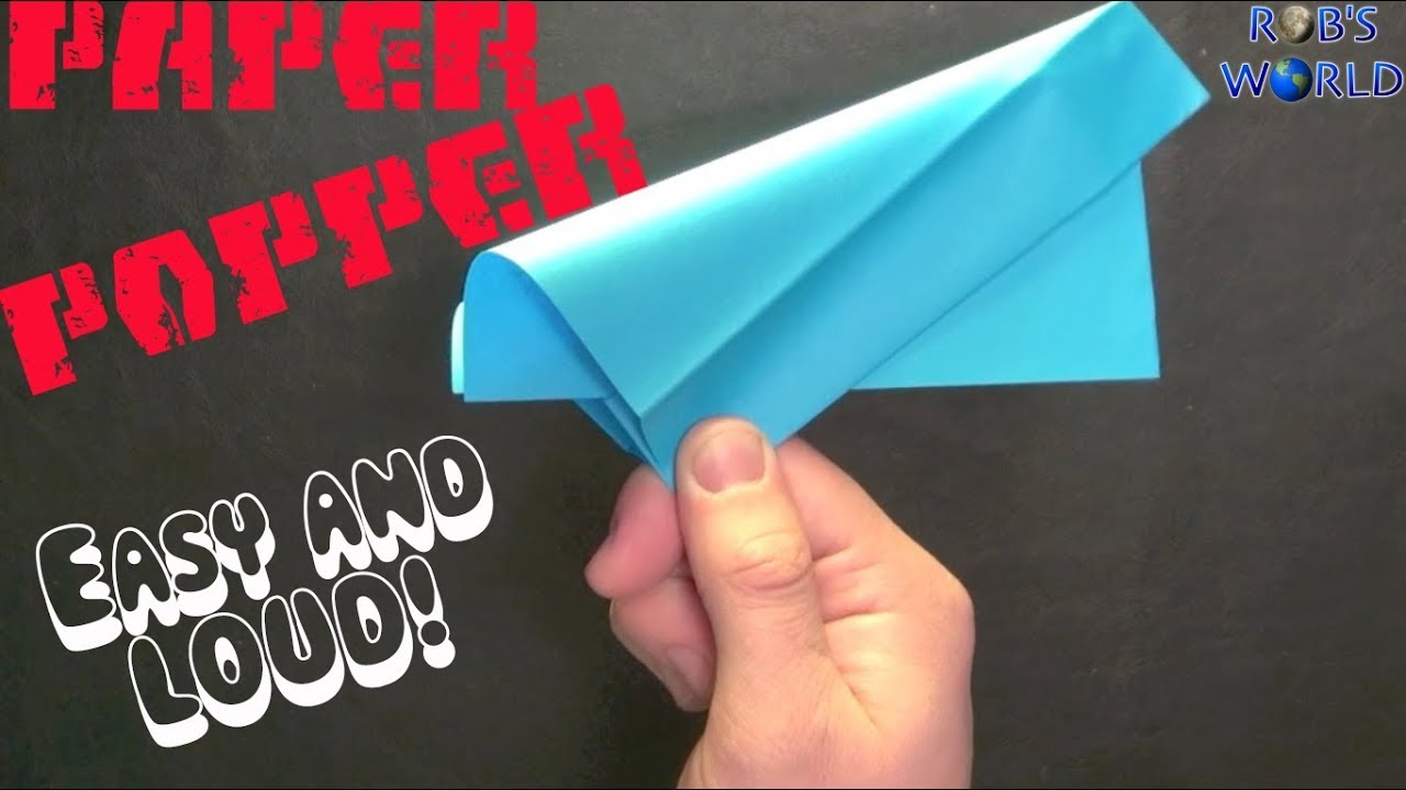 How to make a paper popper easy and loud youtube for Easy things to make out of paper