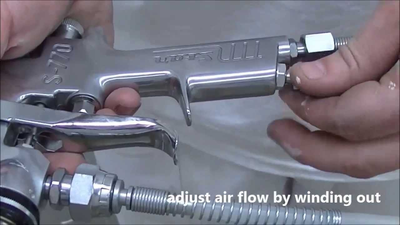 how to use conventional spray gun systems youtube. Black Bedroom Furniture Sets. Home Design Ideas