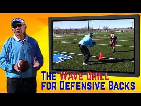 Football - The Wave Drill for Defensive Backs - Coach Jeff Scurran