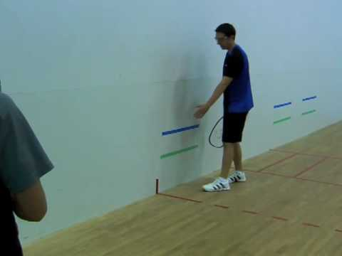 How to Play Racquetball: Backhand Pinch