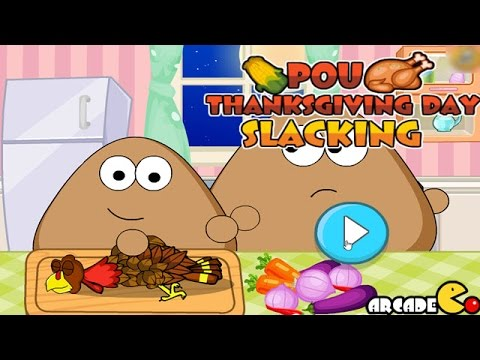 Pou Thanksgiving Day Slacking - Funny Pou Games