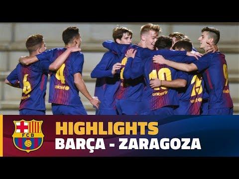 [HIGHLIGHTS] FUTBOL (Juvenil A): FC Barcelona – Zaragoza (1-0)