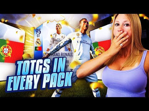 95 ST RONALDO IN A PACK + TOTGS IN EVERY PACK!! FIFA 18 ULTIMATE TEAM