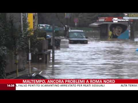 Rai News 24 Maltempo, ancora problemi a Roma Nord