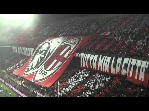Milan Inter 0-1 Curva Sud Milano ''STUPENDE COREOGRAFIE  DALLE DUE CURVE'' IN HQ''.