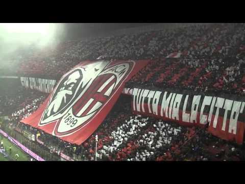Milan Inter 0-1 Curva Sud Milano ''STUPENDE COREOGRAFIE  DALLE DUE CURVE'' IN HQ''.