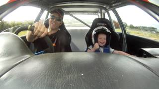Young Kid Really Loves Rally Car Ride