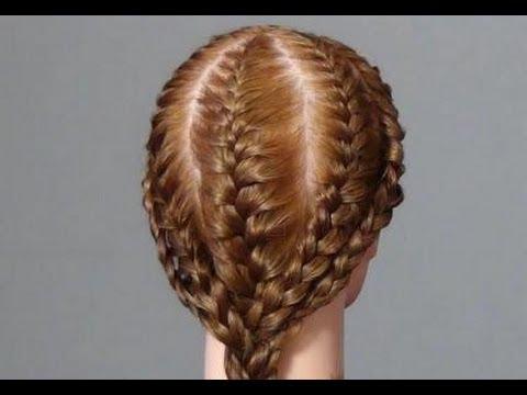 Прическа в школу. Плетение кос. Cute and easy hairstyle for girls