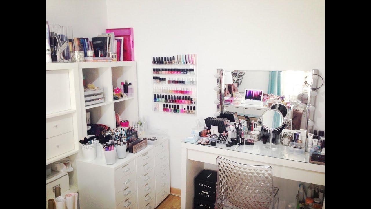 Mon rangement et ma collection de maquillage - Makeup Storage/Collection - YouTube