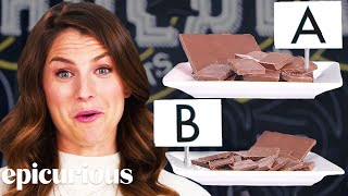 Chocolate Expert Guesses Cheap vs. Expensive Chocolate | Price Points | Epicurious