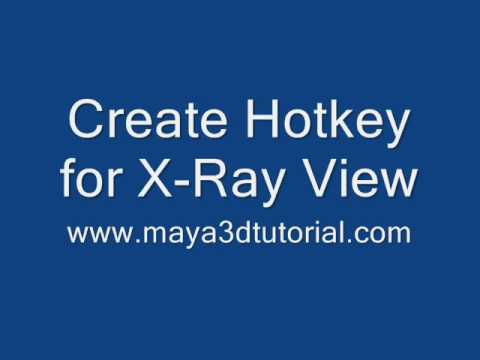maya tutorial: create hotkey for x-ray view