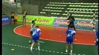 Andebol :: Sporting - 28 x Portland San Antonio - 31 2001/2002 Liga Campeões