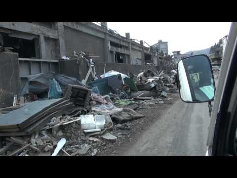 3.11 CRASH Iwate Report 05 Japan Tsunami Kamaishi 釜石 7thAp