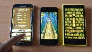 iPhone 5s vs Galaxy S4 vs Nokia Lumia 1020 pil ömrü