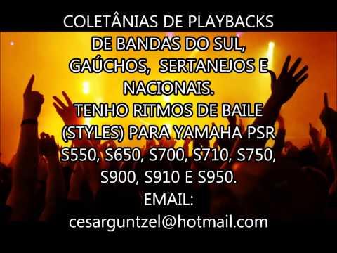 PLAYBACKS DE BANDAS DE BAILE DO SUL