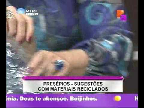 Dicas - Presépios c/ materiais reciclados - Praça Alegria