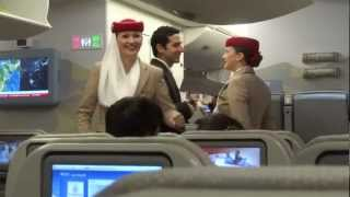 Boarding Emirates A380