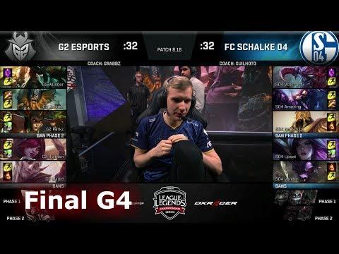 FC Schalke 04 vs G2 eSports - Game 4   Final of EU Regional Qualifier for S8 Worlds 2018   G2 vs S04